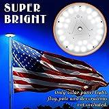 BenefitUSA Solar Powered Flag Pole Light 26 LED Flagpole Night Light