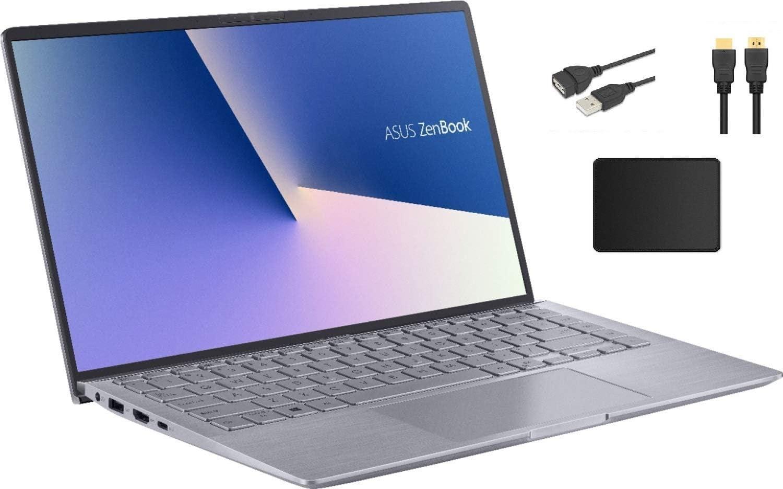 "ASUS ZenBook 14"" Full HD Widescreen LED Display Laptop Bundle Woov Accessory   AMD Ryzen 5 4500U   8GB RAM   256GB PCIe SSD   NVIDIA GeForce MX350   Backlit Keyboard   Windows 10   Light Gray"