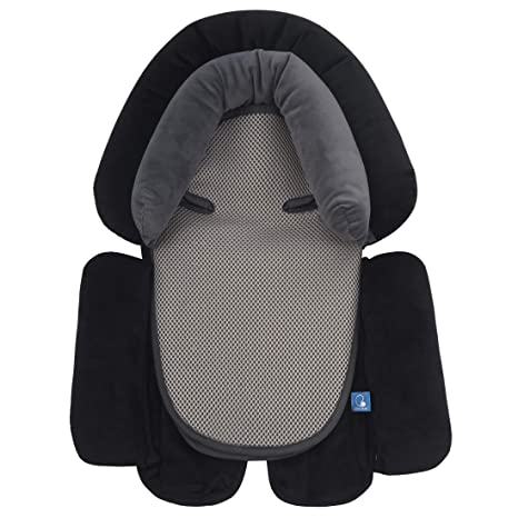 for Car Seats Baby Lounger Pillow Stroller Cushion Grey Cushion Support Comfortable Cotton Baby Head Support General Infant Support
