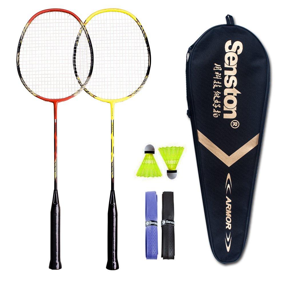 Senston - 2 Player Badminton Racket Set - Including 1 Badminton Bag/2 Rackets/2 Badminton /2 Grip product image