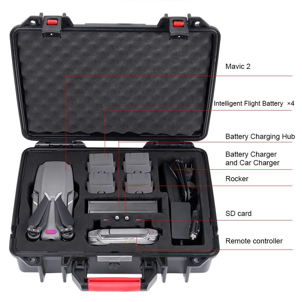 Smatree /É tui Rigide Etanche pour DJI Mavic 2 Pro//Valise de Transport pour DJI Mavic 2 Zoom Drone et Accessoires Non fourni