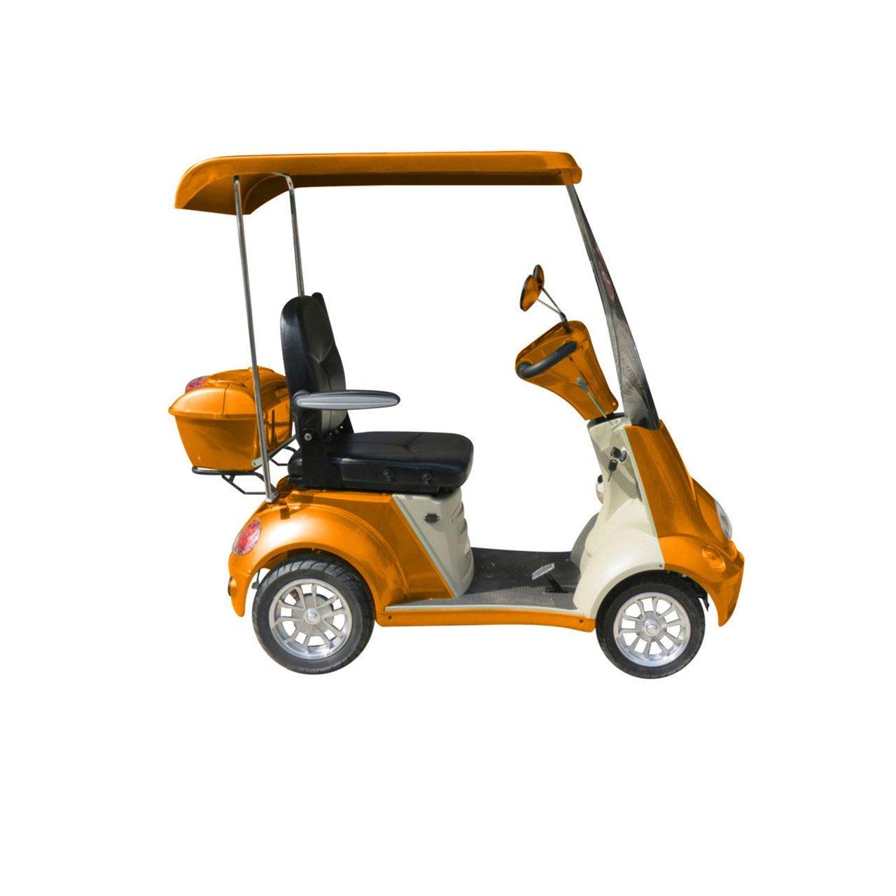 E-Wheels EW-54 4-Wheel Buggie Electric Mobility Scooter - Orange