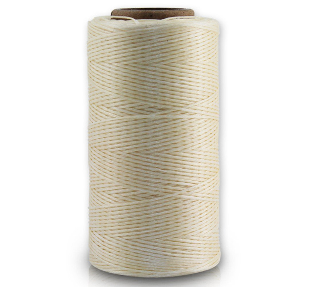 Filo cerato, 150 D, 0,8 mm, in pelle cerata, piatto, filo cerato (150 D 0,8 mm 260 M), 015, beige VegacareDirect