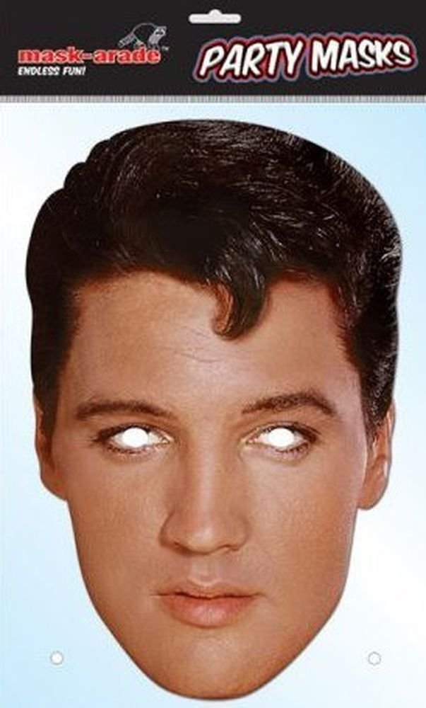 Elvis Presley Celebrity Face Card Mask, Mask-arade, Impersonation/Fancy Dress
