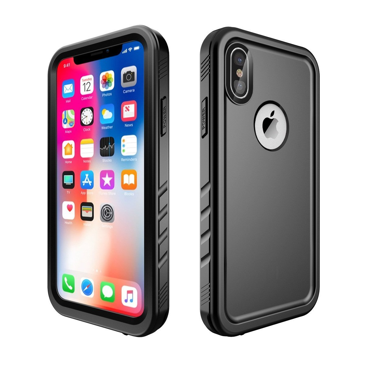 new style 2bdaf ebd64 Compatible iPhone x/iPhone 10 Waterproof Case,Black