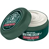 Luxury Shaving Cream Peppermint & Eucalyptus Scent - Soft, Smooth & Silky Shaving Soap - Rich Lather for the Smoothest Shave