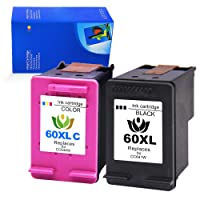 Daryo123 Remanufactured Ink Cartridge Replacement for HP 60 XL 60XL Combo Pack for Envy 100 120 DeskJet F4280 F4480 F4580 F2480 D1660 D2660 F2400 F2420 PhotoSmart C4780 C4680 Printer - Black & Color
