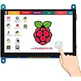 Elecrow 5 inch Capacitive Touch Screen 800x480 TFT LCD Display HDMI Interface Supports Raspberry Pi 2B 3B 3B+ BB Black…