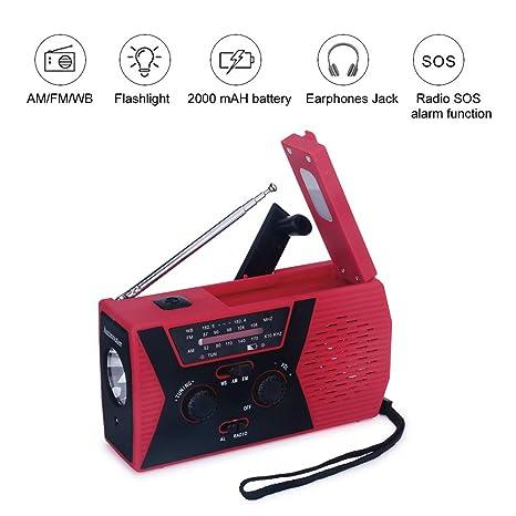 Portable Audio & Headphones Portable Emergency Hand Crank Self Powered AM/FM NOAA Solar Weather Radio Useful