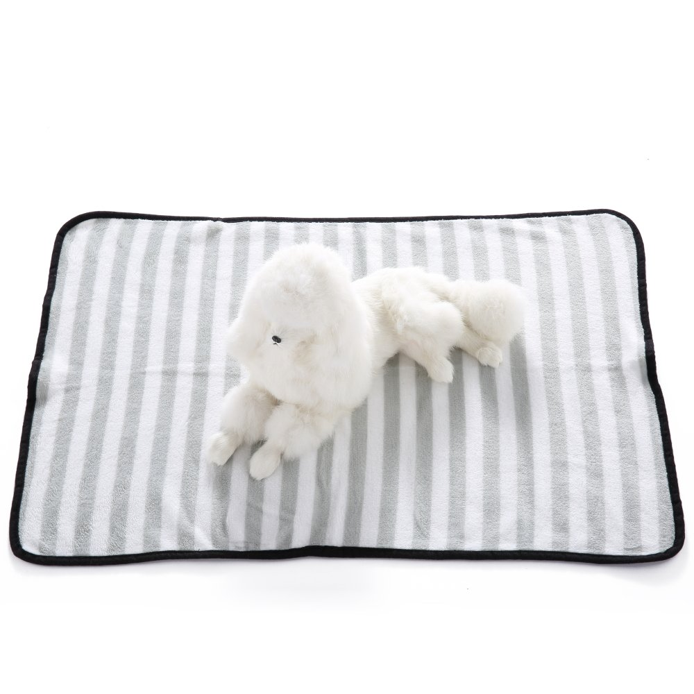 Grey Large Grey Large Dog Cat Puppy Blanket Puppy Doggy Kitten Bed Cover Throw Blanket Soft Sleep Mats Stripe Pattern