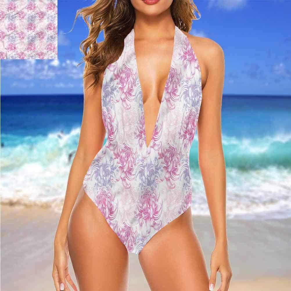 Adorise string bikini fleur plantes sauvages herbes botanique s\'adapte à tous les types de corps Multi 23.