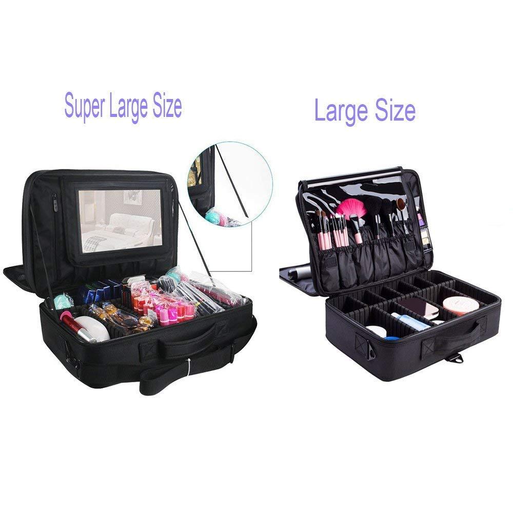 Amazon.com: Estuche organizador portátil para maquillaje de ...