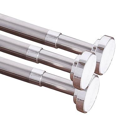 Easy2hang Extendable Telescopic Window Curtain Rod, Shower Tension Rod,Closet  Rod,Locker Room