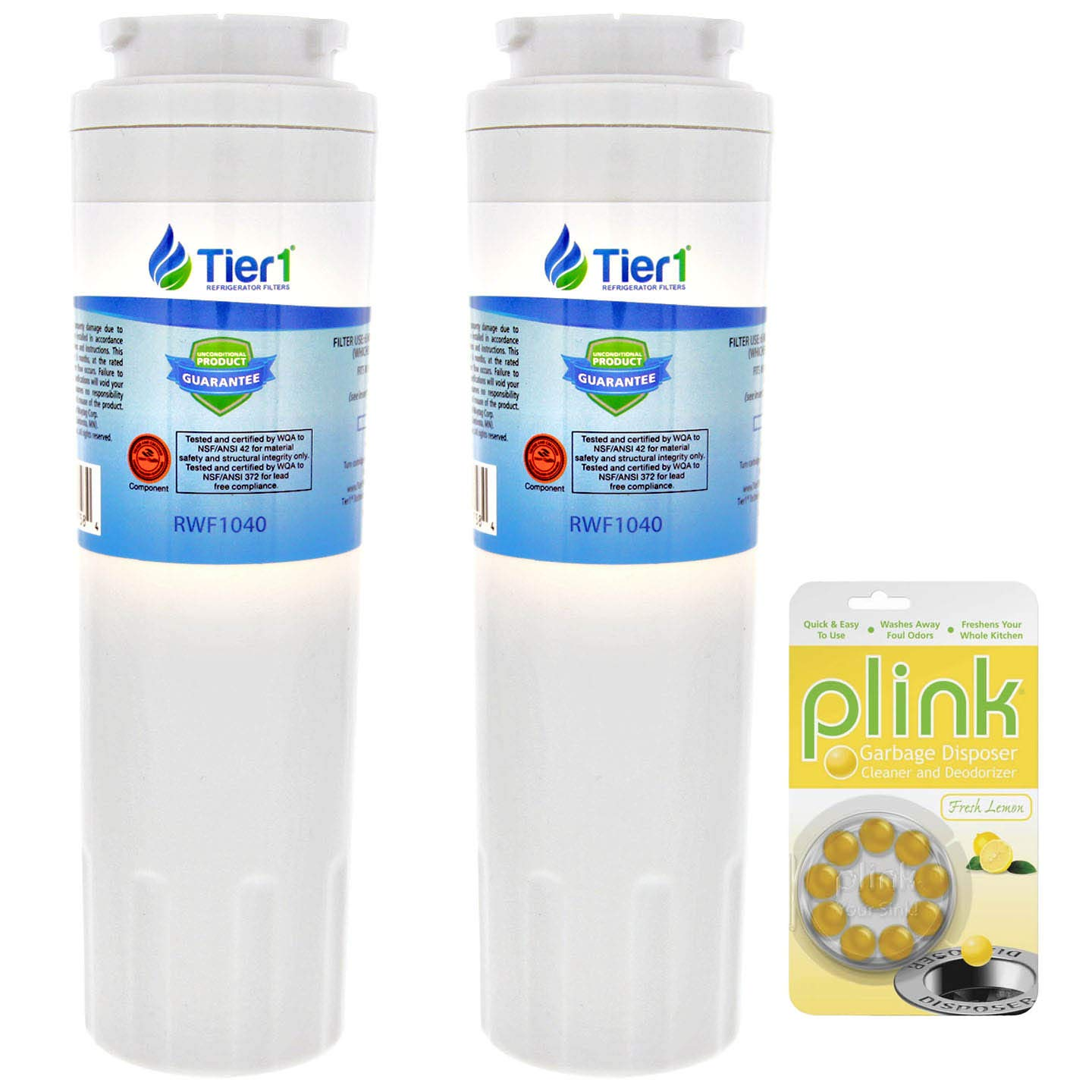Tier1 Replacement for EveryDrop EDR4RXD1 Maytag UKF8001 Refrigerator Water Filter (3 Pack) and Garba
