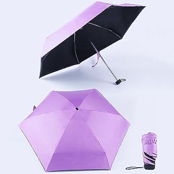 Morehappy7 Mini paraguas de viaje para sol y lluvia, paraguas para el aire libre,