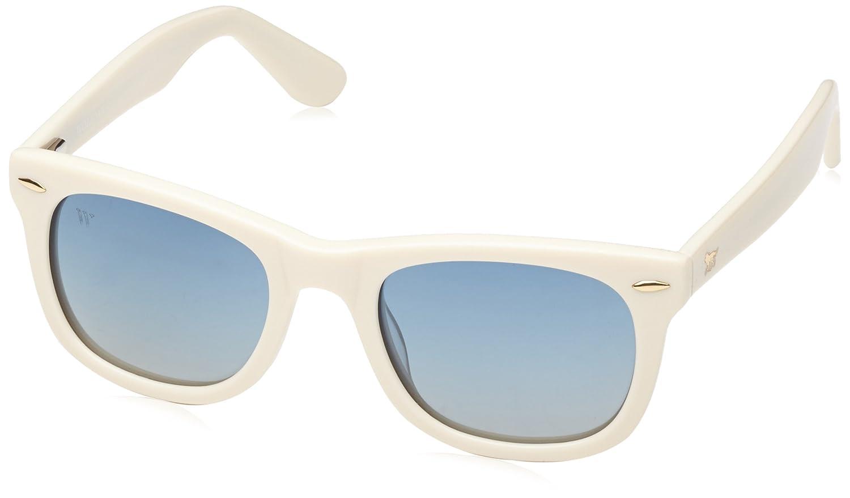 Wolfnoir Unisex Sonnenbrille Kiara Raw Blue, Mehrfarbig (Blanco/Azul), One size