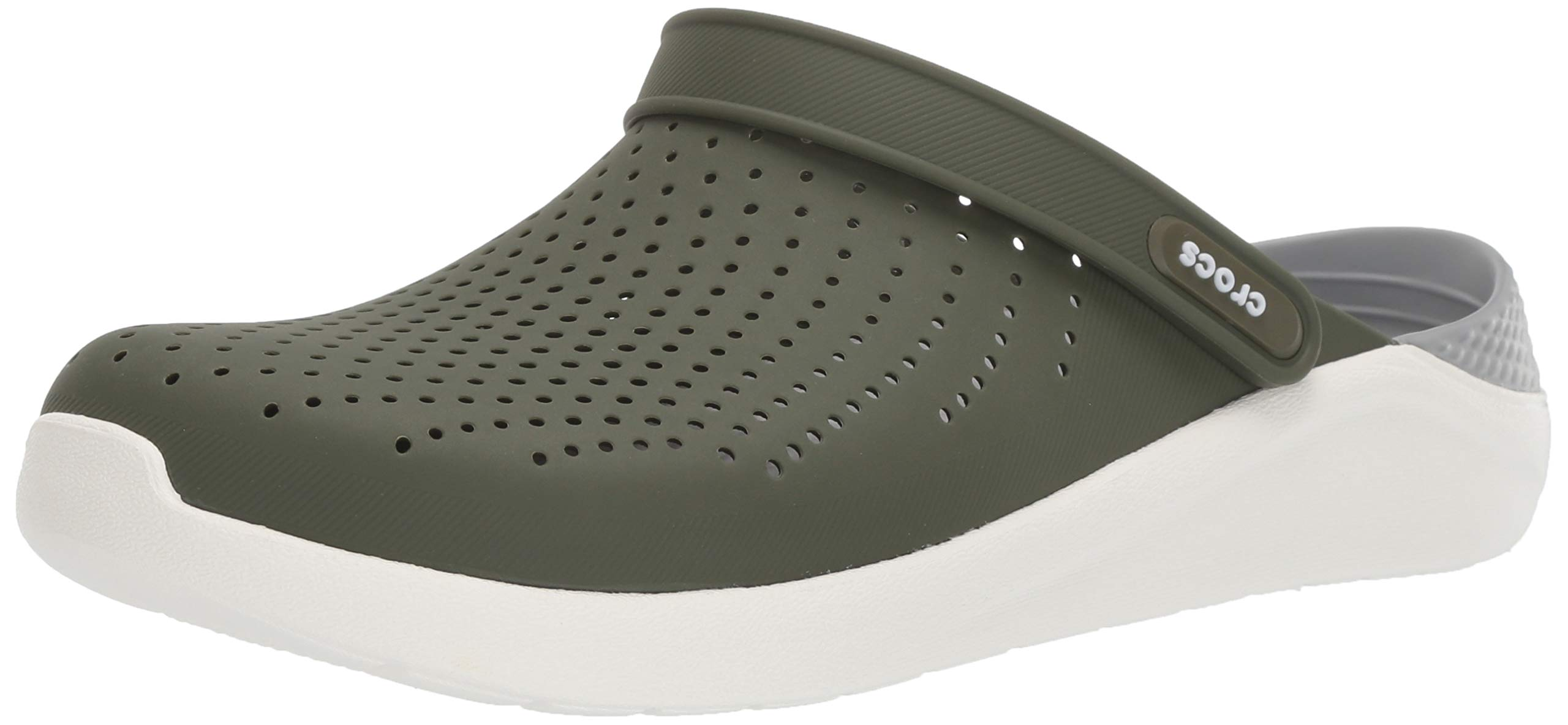 Crocs LiteRide Clog, Army Green/White 14 US Women / 12 US Men M US