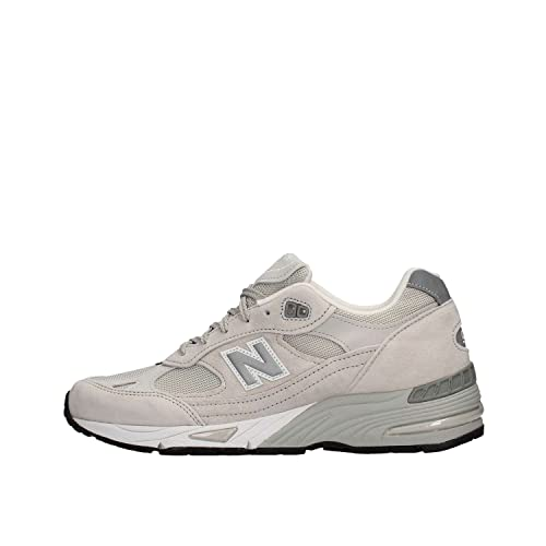 New Balance 991 Pow, Sneaker Uomo Stringata, Camoscio e Tessuto, Optical  White (