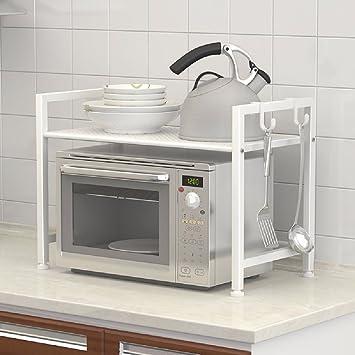 ZPSPZ Cocina estante condimentos piso multi - capa de storage rack horno microondas Frame metal rack