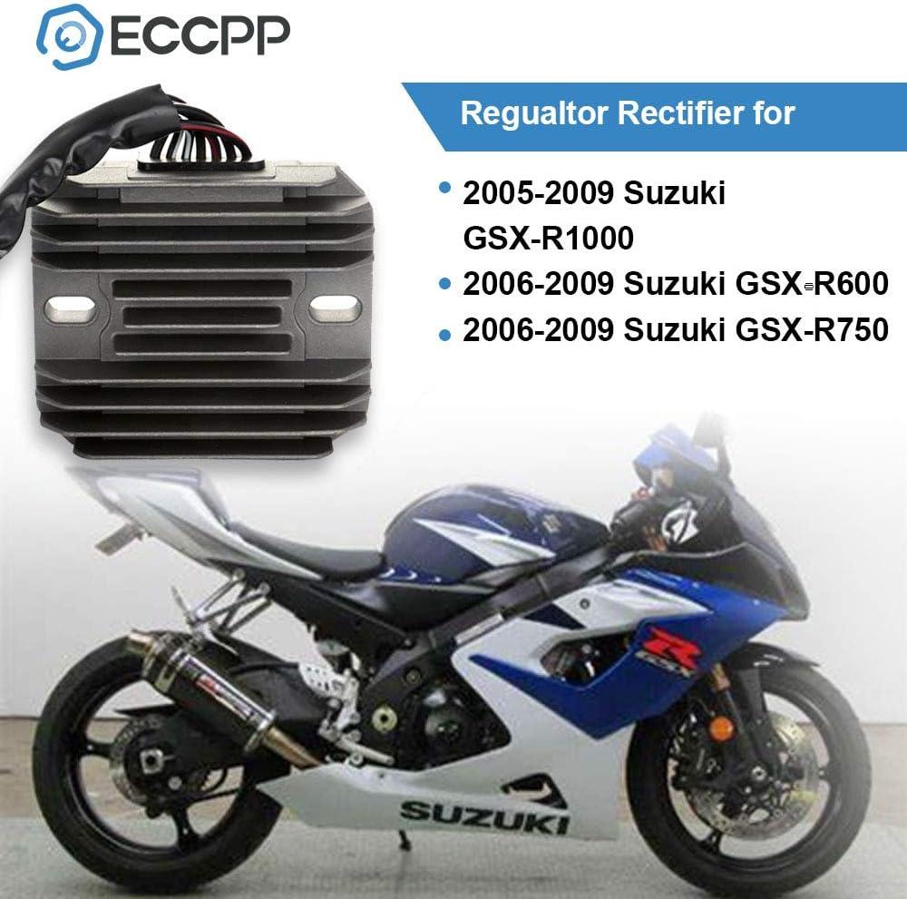 ECCPP Voltage Regulator Rectifier Fit for 2005-2009 Suzuki GSXR1000 2006-2009 Suzuki GSXR600 2006-2009 Suzuki GSXR750 Motorcycle Regulator Rectifier
