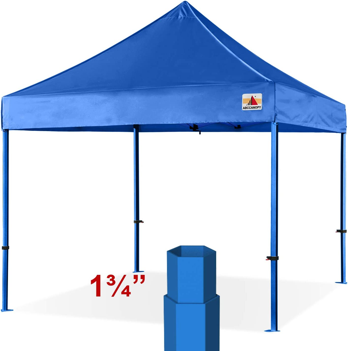 ABCCANOPY Professional 10x10 Easy Pop-up Canopy Tent Commercial Instant Shelter with Wheeled Carry Bag Bonus 4 Weight Bags White