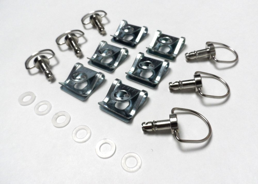 Race Fasteners 1/4 Turn Quick Release 6 pack Dzus Panex D-Ring Length 17mm CaliBikerClub
