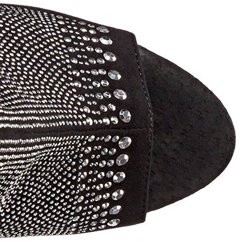 Ellie Zapatos Mujeres 609-challis Bota Black