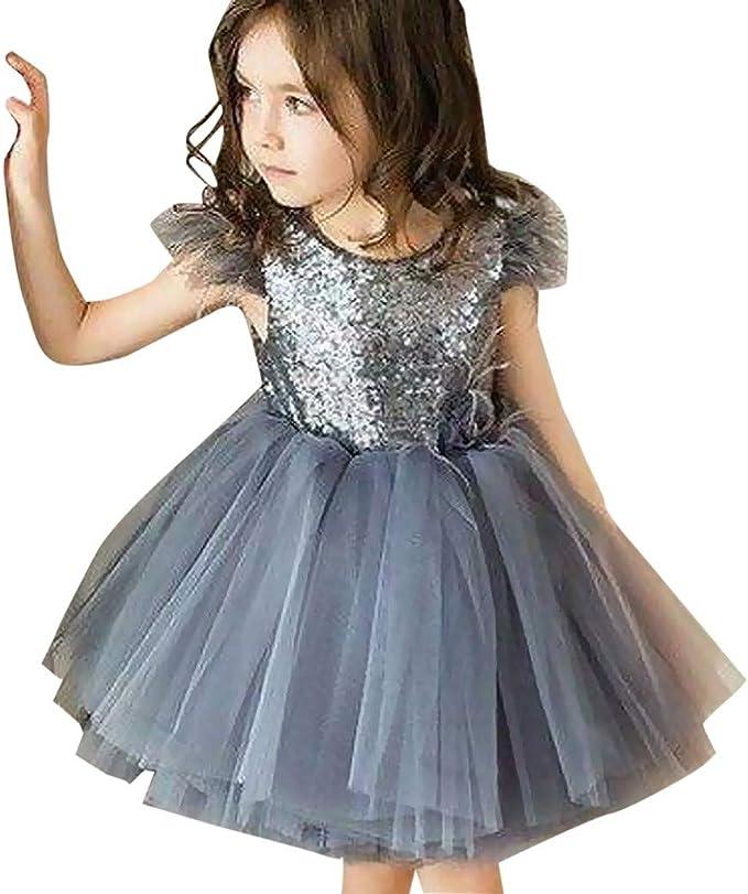 Baby M/ädchen Hohe Taille Rock Samt Falten Prinzessin Skirt