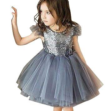 c9c89ebdbe77b Amazon.com: Boomdan Toddler Baby Girl Princess Kid Clothes Round ...