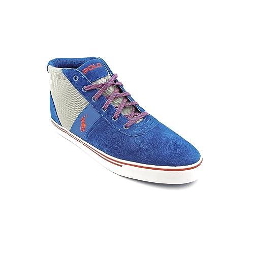 Ralph Lauren Hanford Mid - Zapatillas de Cuero para Hombre Azul ...
