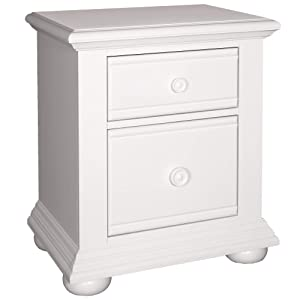 """Liberty Furniture Industries Summer House 2-Drawer Night Stand, 24"""" x 17"""" x 27"""", Oyster White"""