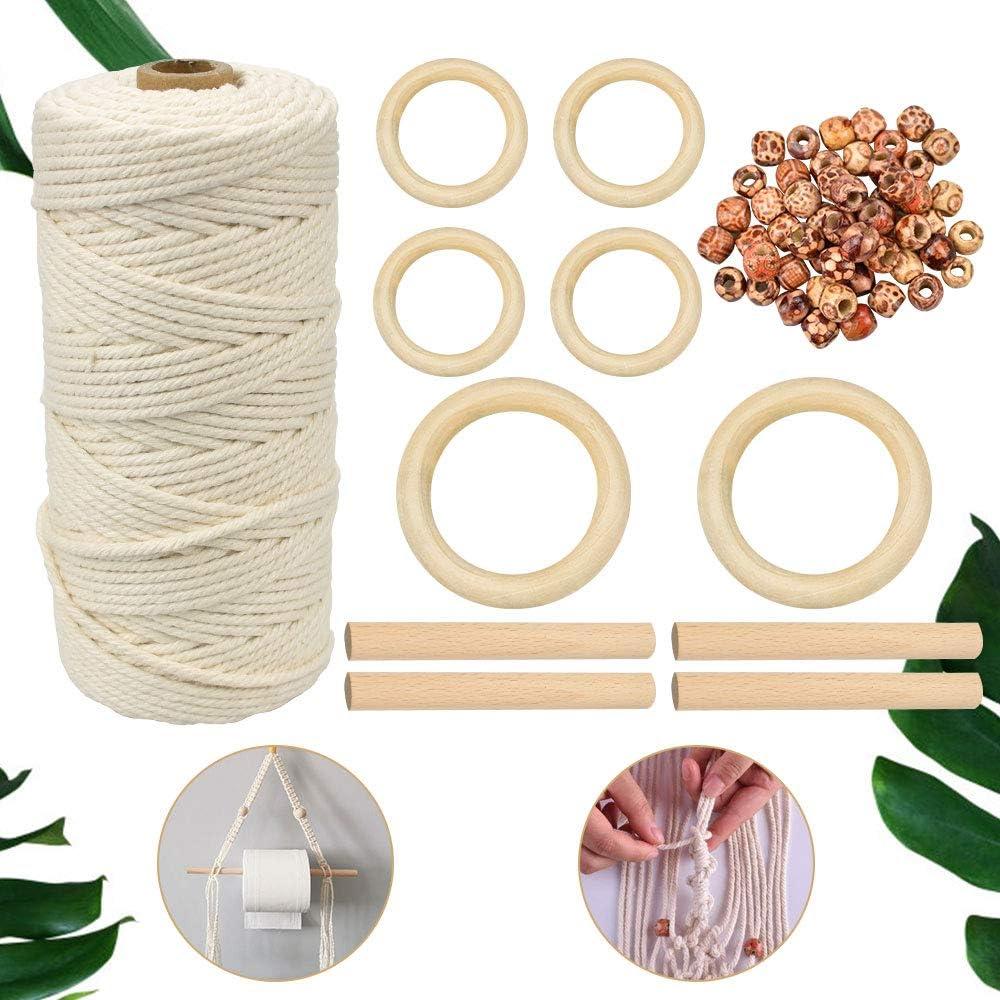 GOLRISEN Kit de Cordón de Macramé, Incluye 1 rollo Cuerda de ...