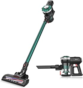 Dibea TT8 Cordless Vacuum, Cordless Stick Vacuum Cleaner with 12KPa Power Suction, Lightweight 2 in 1 Handheld Vacuum Rechargeable Lithium Ion Battery and LED Brush
