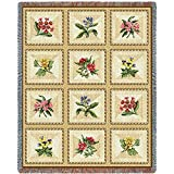 Pure Country Inc. French Floral Tapestry Throw Blanket