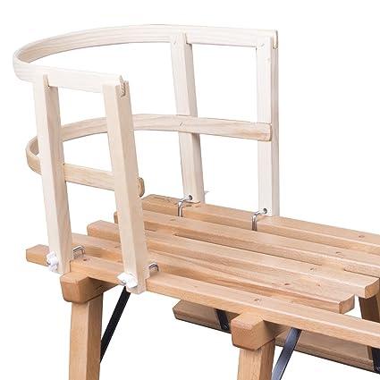 ScSports Kinder Schlittenlehne aus Holz massiv 50W0016 Schlitten,
