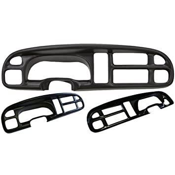 Amazon 99 01 dodge ram speedometer gauge cluster radio bezel 99 01 dodge ram speedometer gauge cluster radio bezel cover skin cover only publicscrutiny Image collections