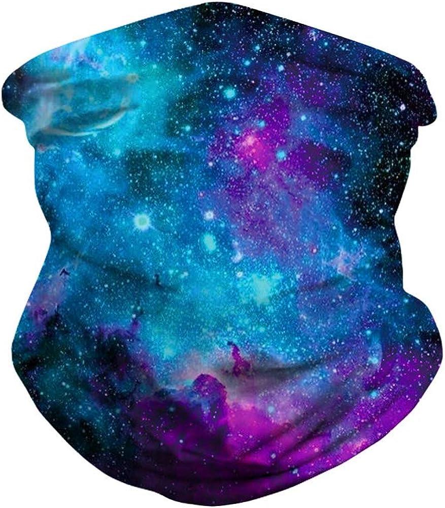 OLEMEK 6PCS Unisex Floral Leopard Print Bandana Ear Loops Neck Gaiter Face Cover Scarf Headband Men Women UV Dust Balaclava