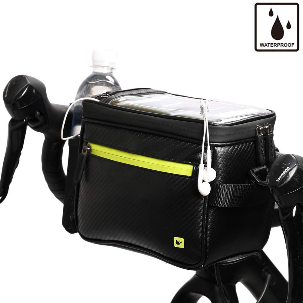 Rhinowalk Bike Handlebar Bag,Waterproof Bike Front Bag Road Bike Bag Bike Frame Bag Bike Basket Bag Bicycle Bag Professional Cycling Accessories