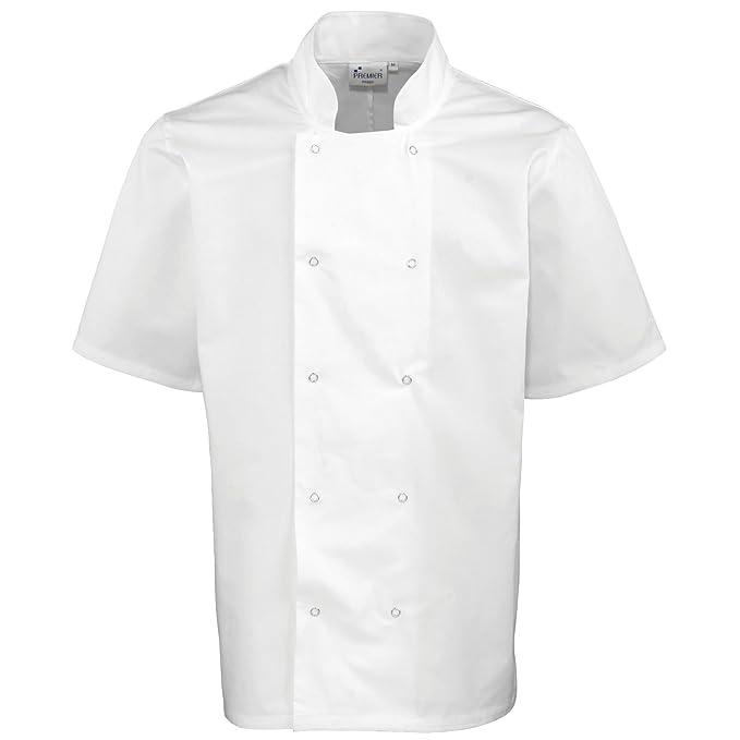 Premier Hospitality Borchie anteriore manica corta giacca cuoco  Amazon.it   Abbigliamento 3f3eb9351422