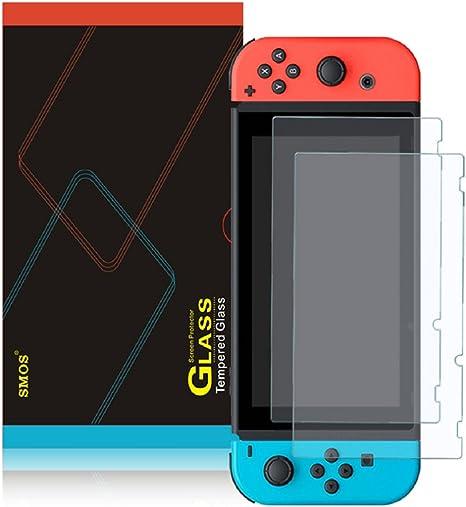 Protector de Pantalla para Nintendo Switch, SMOS de Vidrio Templado - Grosor de 0.22 mm/Sin burbujas/Dureza 9H/Antideslizante/Irrompible/Anti-Fingerprint-HD Claramente: Amazon.es: Videojuegos