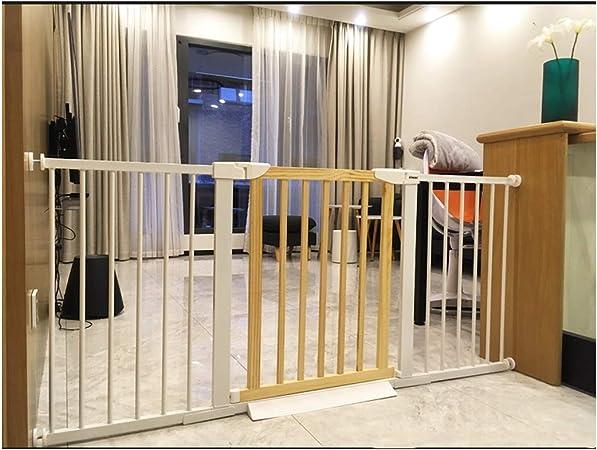 Barreras de puerta Puerta De Seguridad for Mascotas For Bebés Cerca De Escalera Puerta De Seguridad Barra Bebé Niño Bebé Cocina Cerca Perforación Libre Barandilla Hogar Cerca Interior: Amazon.es: Hogar