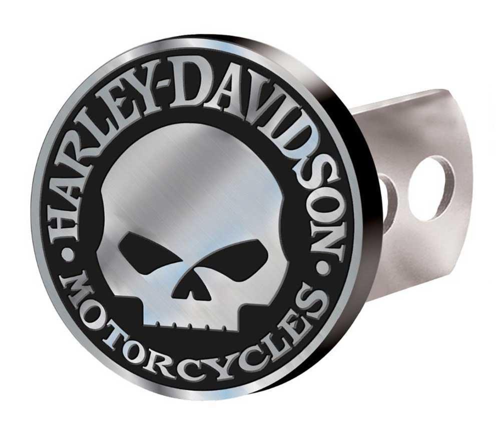 Harley-Davidson Hitch Cover, Willie G Skull Hitch Plug, Brushed Silver 2283 by HARLEY-DAVIDSON