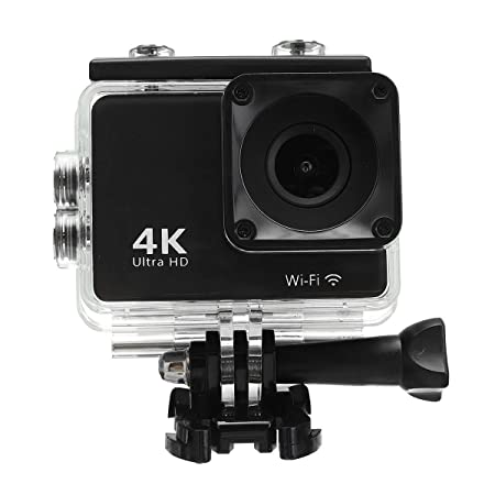 Uniqus 2 Inch 4K Ultra FHD 1080P Double Screen Waterproof Sport Action Camera with WiFi Connection Security Cameras