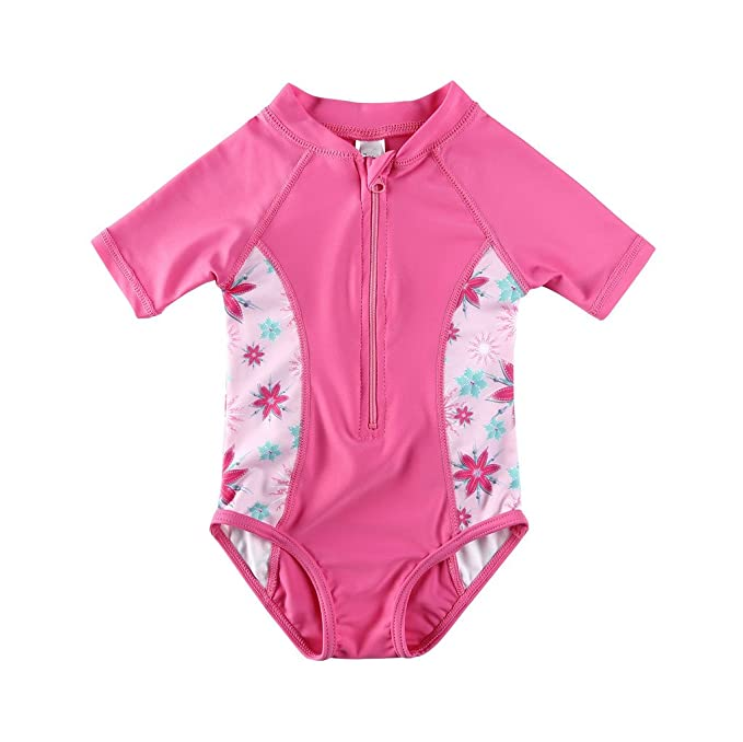 59d77befe0 Amazon.com: Vivafun Baby Girl Sun Protective Swimwear Infant Toddler Rash  Guard Shirt: Clothing