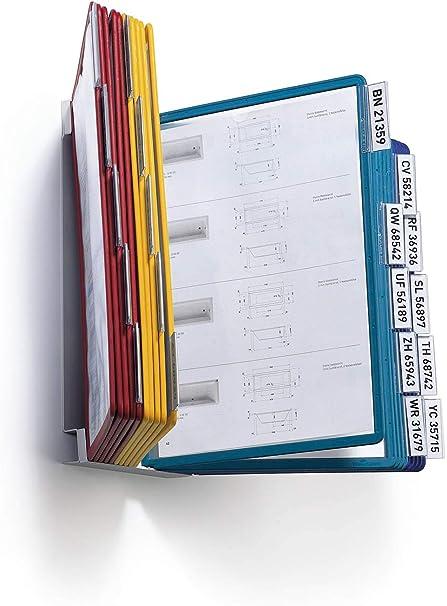 cavalierini a clip rimovibili DURABLE 551200 Vario Wall 20 assortiti 20 pannelli espositivi Sherpa f.to A4 leggio da parete