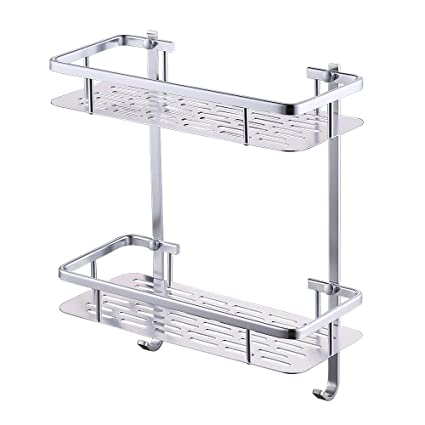 Amazon.com: KES Bathroom Shelf, Shower Shelf Basket 2 Tier 12 Inch ...