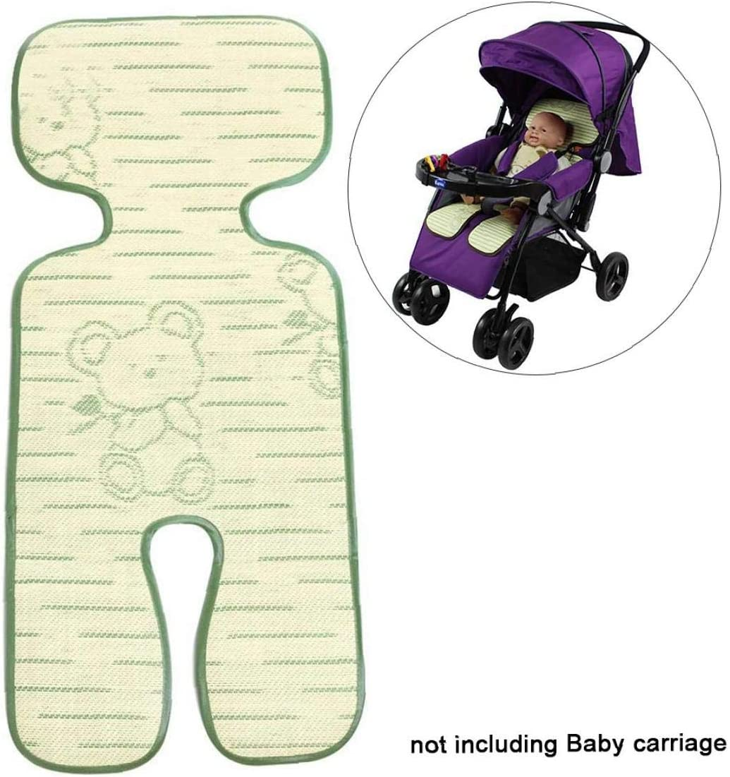 Coffee 1pc Stroller Car Seat High Chair Pushchair Baby Stroller Cool Seat Mat Breathable 3D Mesh Cool Cushion Liner Bamboo Cushion Seat Pad Protector