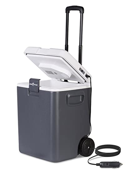 Plug In Cooler >> Amazon Com Rockpals 12v Plug In Electric Cooler On Wheels Handle