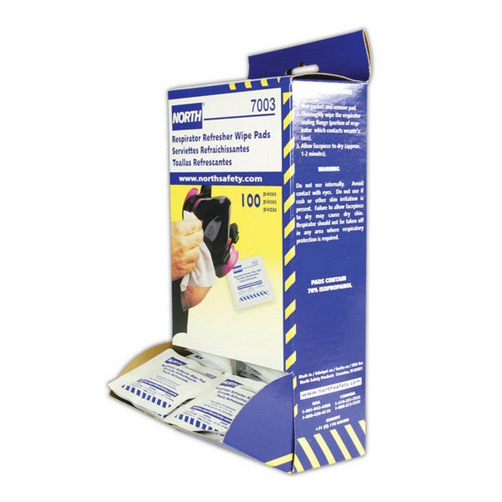 Honeywell 7003-H5 North N7003 Respirator Refresher Wipe Pads, White (Pack of 100)