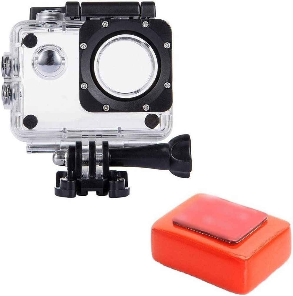 tekcam funda resistente al agua carcasa protectora con flotador esponja para AKASO ek7000 4 K/apeman/victure/odrvm/SJ4000/Eken h9r bajo el agua Deporte cámara de acción: Amazon.es: Electrónica